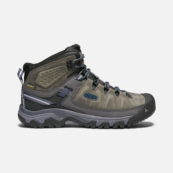 Men's Targhee III Waterproof Hiking Boots in STEEL GREY/CAPTAIN'S BLUE - large view.