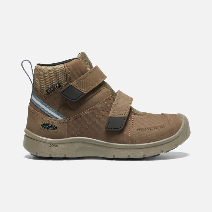 Older Kids' Hikeport 2 Mid Strap Waterproof Trainer Boots in Canteen/Balsam - large view.