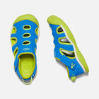 Older Kids' Stingray Sandals in Brilliant Blue/Chartreuse - small view.