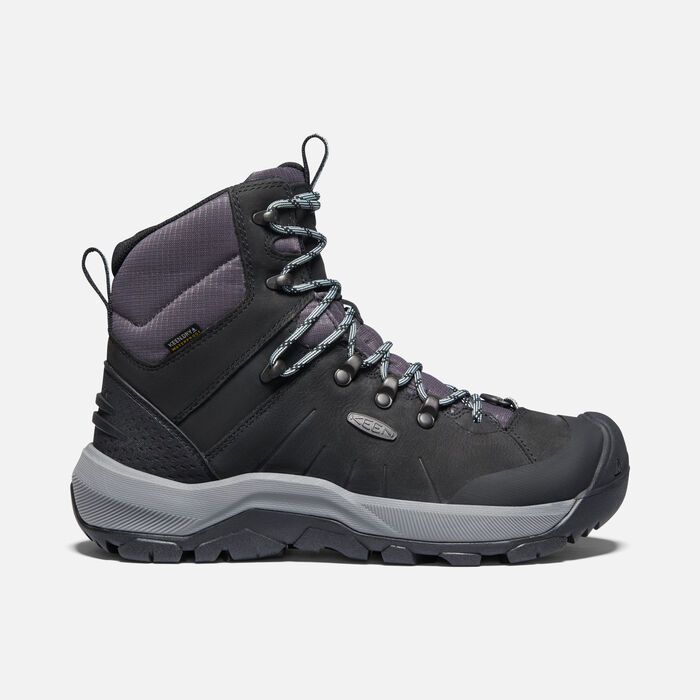 Women's Revel IV Mid Polar Hiking Boots in Black/Harbor Gray - large view.