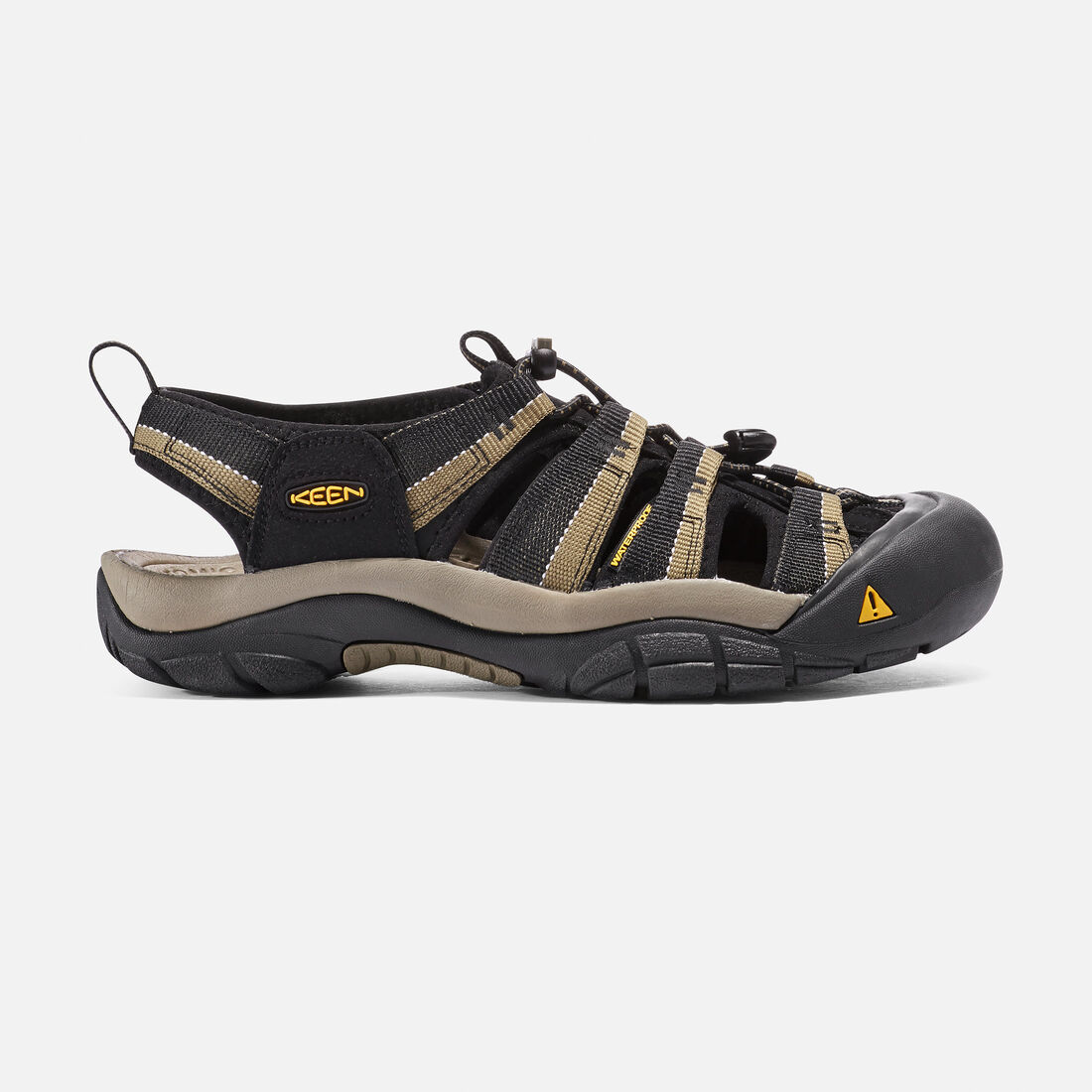 MEN'S NEWPORT H2 SANDALS in Black/Stone Gray - large view.