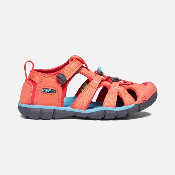 Younger Kids' Seacamp II Cnx Sandals in Coral/Poppy Red - large view.