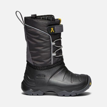 Younger Kids' LUMI Waterproof Winter Boots in BLACK/MAGNET - large view.