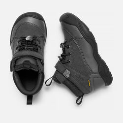 Little Kids' JASPER Waterproof Mid in Black/Raven - small view.
