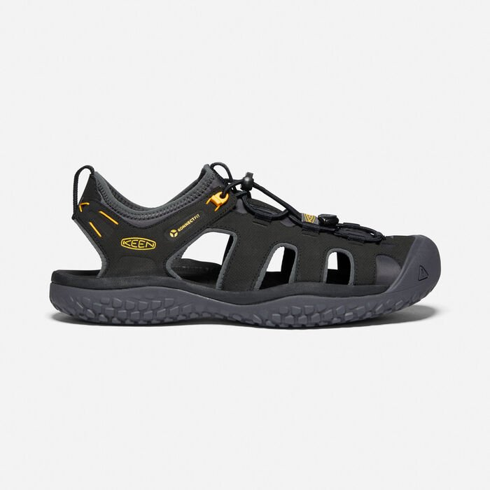 Men's SOLR Sandal in Black/Gold - large view.
