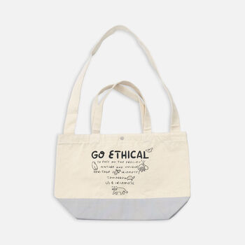 US 4 IRIOMOTEチャリティー 2WAY BAG  GO ECHICAL in Grey - large view.