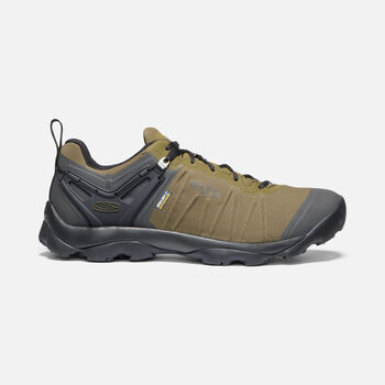 MEN'S VENTURE WATERPROOF HIKING SHOES in DARK OLIVE/RAVEN - large view.