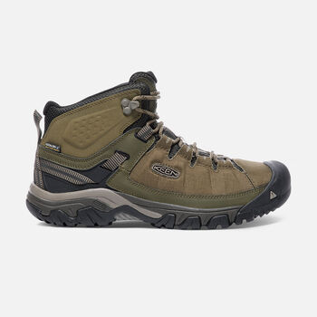 Men's TARGHEE EXP Waterproof Mid in Dark Olive/Black Olive - large view.