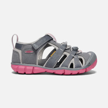SEACAMP II CNX SANDALES POUR ENFANTS in STEEL GREY/RAPTURE ROSE - large view.