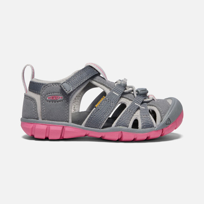 Younger Kids' Seacamp II Cnx Sandals in STEEL GREY/RAPTURE ROSE - large view.