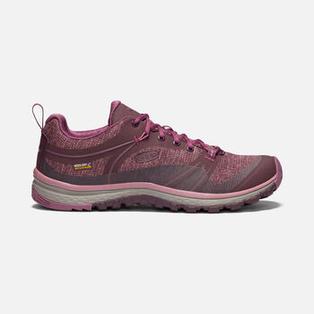 Women's Terradora Waterproof Hiking Shoes in WINETASTING/TULIPWOOD - large view.