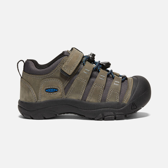 Younger Kids' Newport Shoe in Steel Grey/Brilliant Blue - large view.