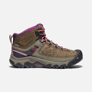 Women's Targhee III Waterproof Hiking Boots in WEISS/BOYSENBERRY - large view.