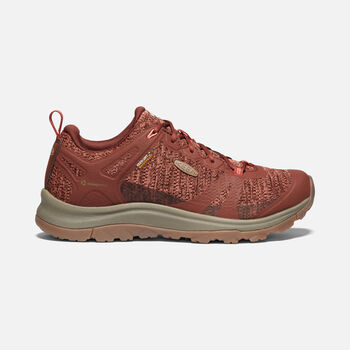 Women's Terradora II Waterproof Hiking Trainers in Cherry Mahogany/Coral - large view.