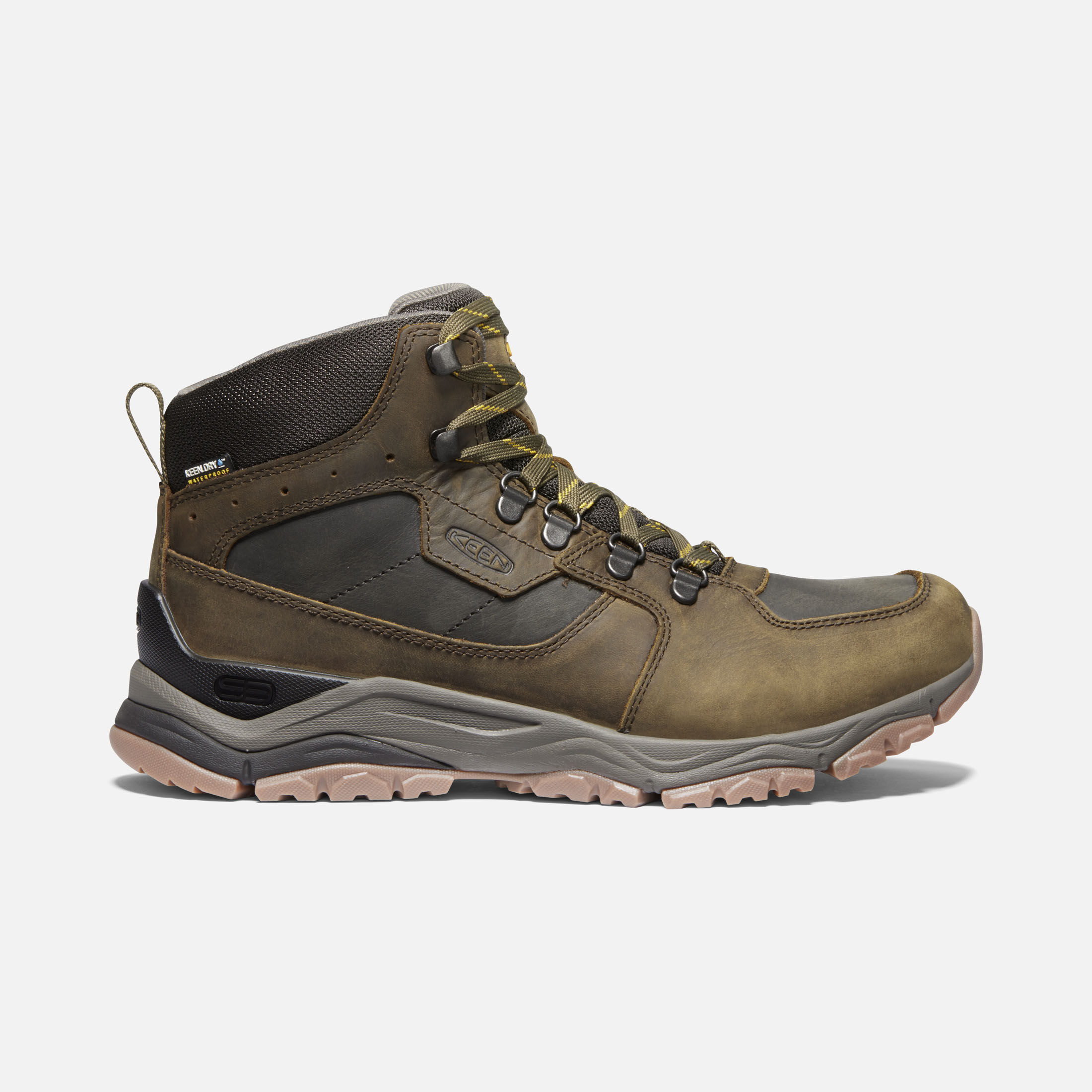 black leather hiking boots mens