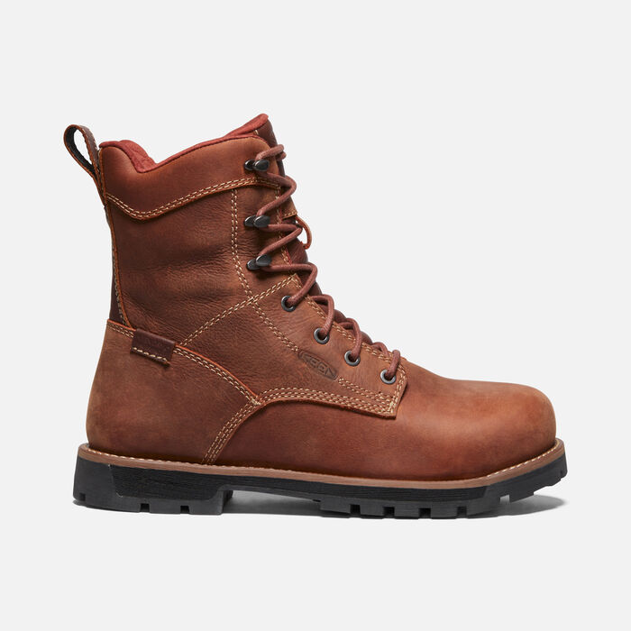 "Women's Seattle 8"" Waterproof Boot (Aluminum Toe) in GINGERBREAD/BLACK - large view."