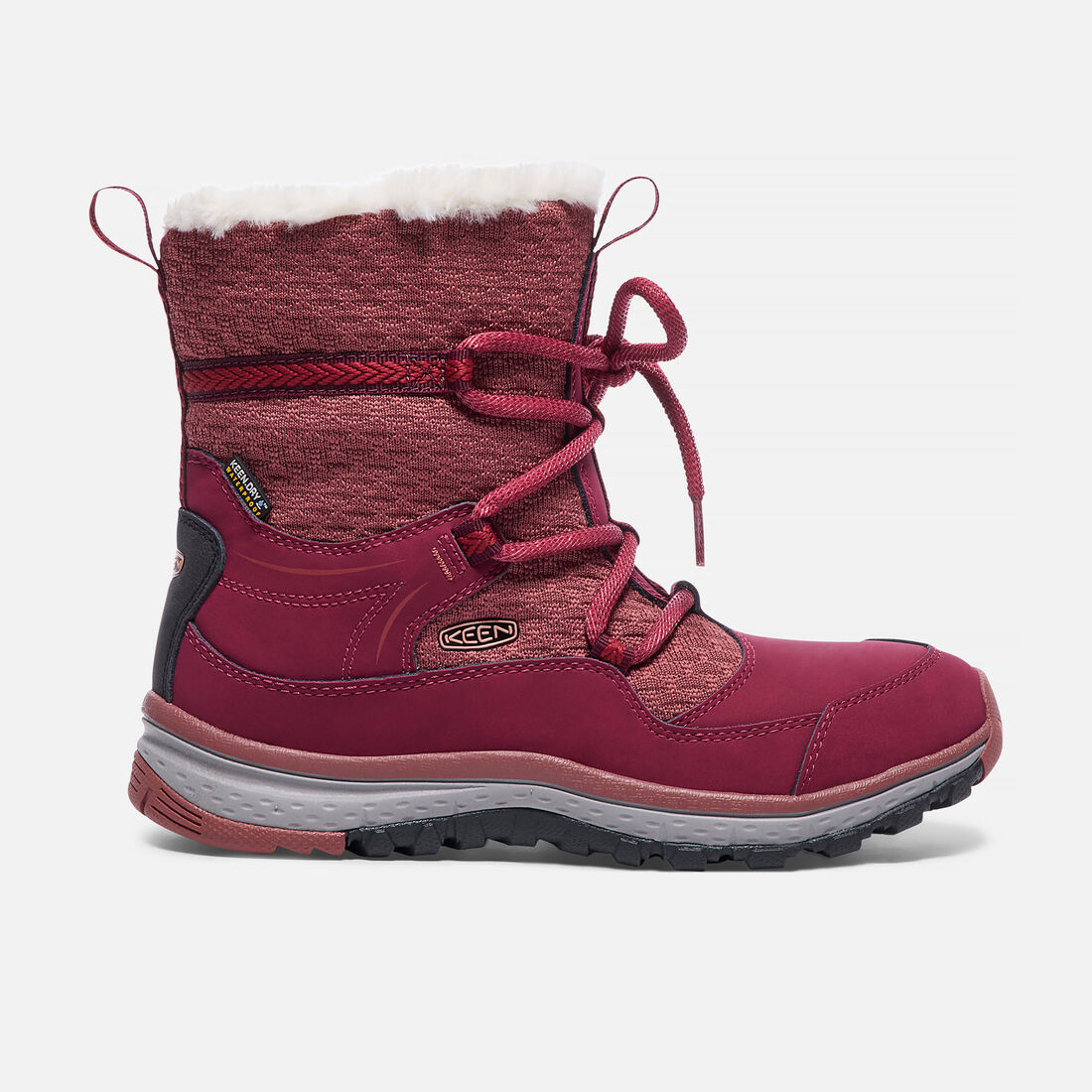 Women's TERRADORA APRÈS Waterproof Boot in Rhododendron/Marsala - large view.