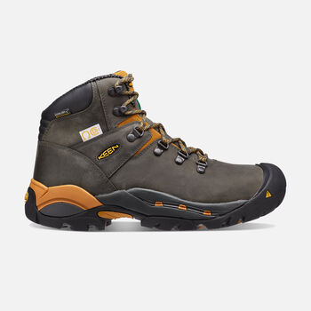 "Men's CSA Hudson 6"" Waterproof Boot (Steel Toe) in Raven/Inca Gold - large view."