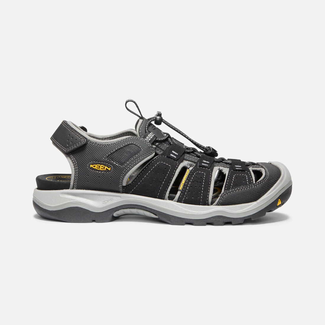 MEN'S RIALTO H2 SANDALS in Black/Gargoyle - large view.