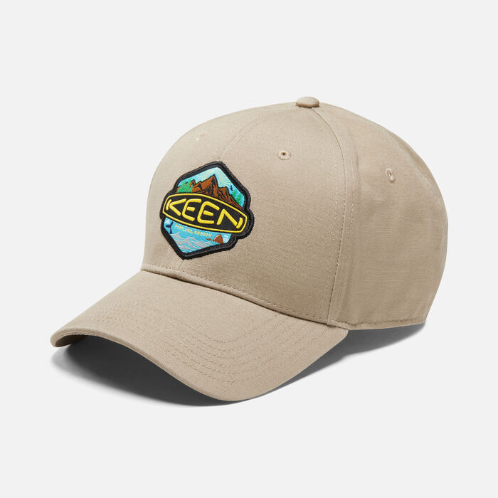 KEEN Badge Hat in Tan - large view.