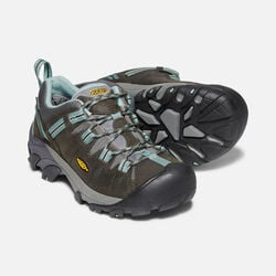 Women's Targhee II Waterproof in Black Olive/Mineral Blue - small view.