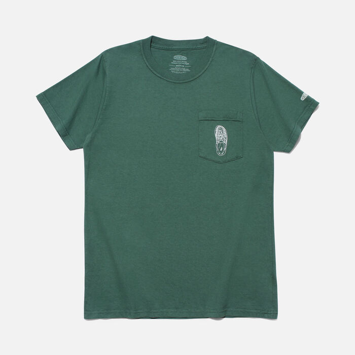POCKET Tシャツ UNEEK in Forest Green - large view.