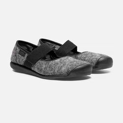 Women's SIENNA Wool Mary Jane in Black Wool - small view.