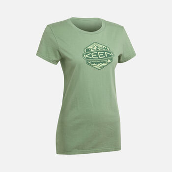 Women's Badge Tee in GRASSHOPPER - large view.