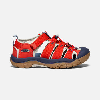 Big Kids' Newport H2 in Fiery Red/Blue Depths - large view.