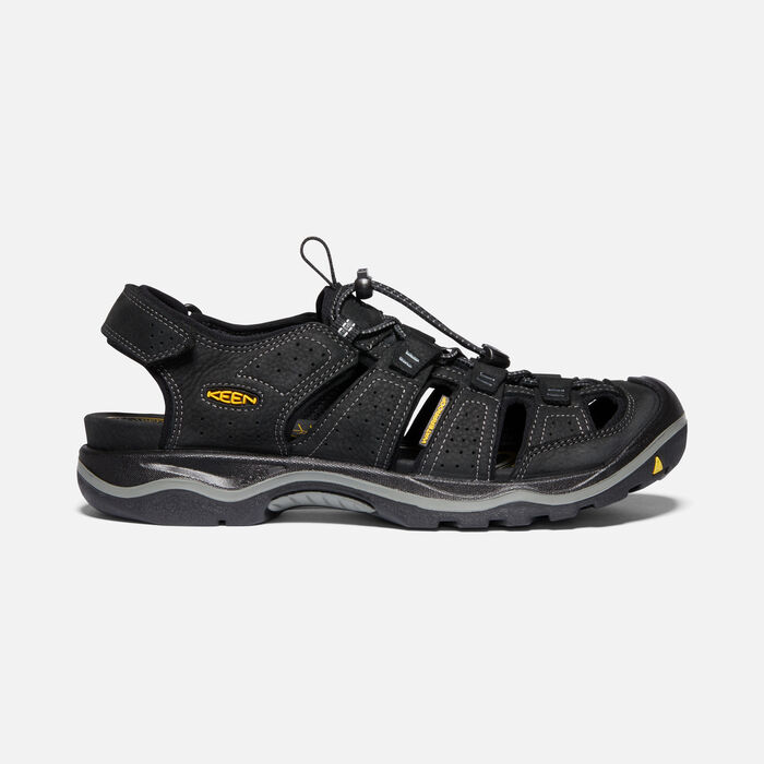 Men's Rialto II Leather Hiking Sandals in Black/Gargoyle - large view.