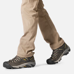 Men's Targhee II Waterproof Wide Fit Mid Hiking Boots in  - on-body view.