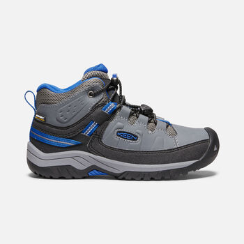 Targhee Waterproof Boot Pour Jeunes in STEEL GREY/BALEINE BLUE - large view.