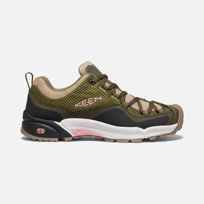 Women's Wasatch Crest Vent in Olive Drab/Pink Icing - large view.