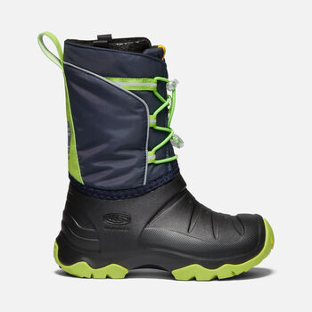 Big Kids' LUMI Waterproof Winter Boot in BLUE NIGHTS/GREENERY - large view.