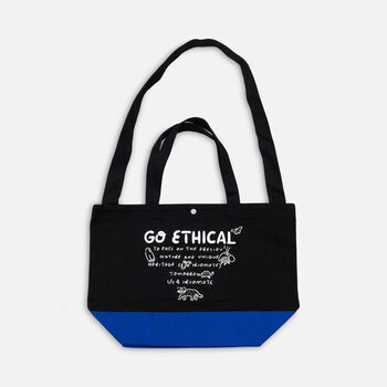 US 4 IRIOMOTEチャリティー 2WAY BAG  GO ECHICAL in Blue - large view.