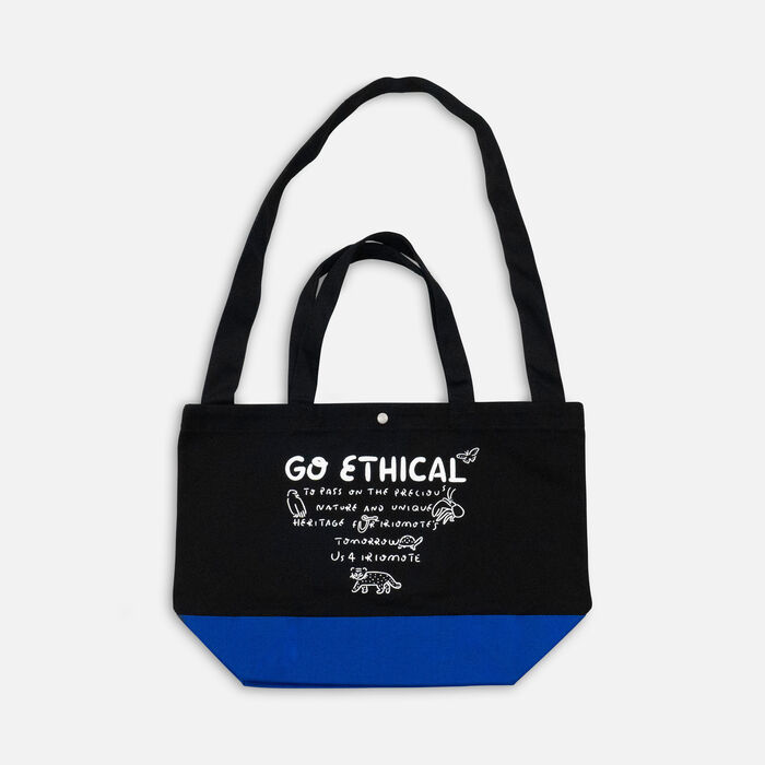 US 4 IRIOMOTEチャリティー 2WAY BAG  GO ETHICAL in Blue - large view.