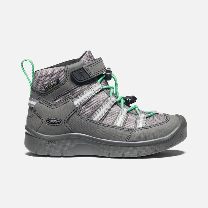 Younger Kids' Hikeport II Sport Waterproof Trainer Boots in Black/Irish Green - large view.