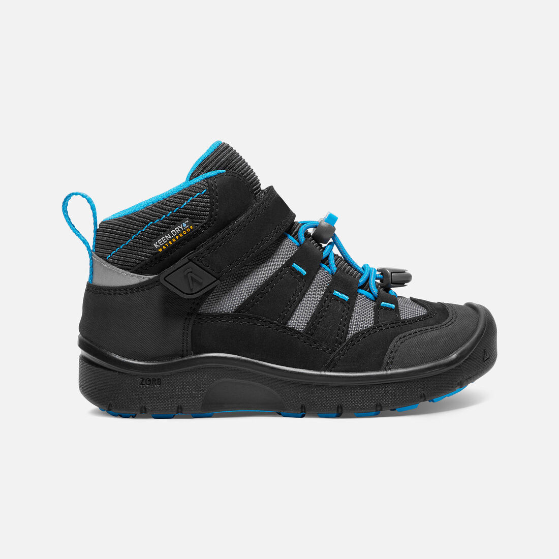 YOUNGER KIDS' HIKEPORT MID WATERPROOF HIKING BOOTS in Black/Blue Jewel - large view.