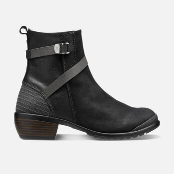 WOMEN'S MORRISON MID CASUAL BOOTS in Black/Black - large view.