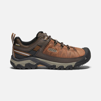 Men's Targhee III Waterproof Hiking Shoes in BIG BEN/GOLDEN BROWN - large view.