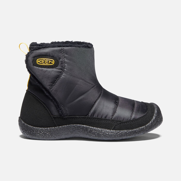 Younger Kids' Howser II Mid Casual Boots in Black/Keen Yellow - large view.