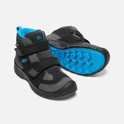 Big Kids' HIKEPORT STRAP Waterproof Mid in Black/Blue Jewel - small view.