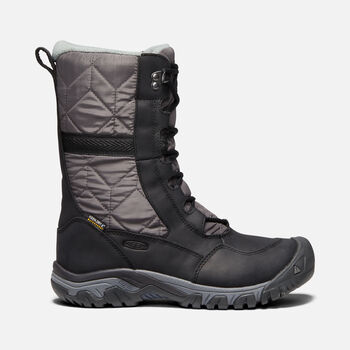 Women's Hoodoo III Tall Winter Boots in BLACK/MAGNET - large view.