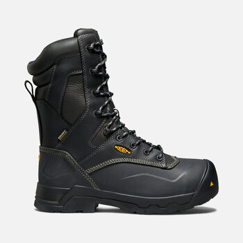 "Men's CSA MIDLAND 10"" Waterproof MET (Composite Toe) in BLACK - large view."