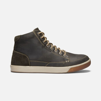Men's Glenhaven Mid Casual Trainers in DARK OLIVE/BLACK OLIVE - large view.