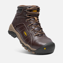 "Women's SANTA FE 6"" Boot (Aluminum Toe) in Cascade Brown - small view."