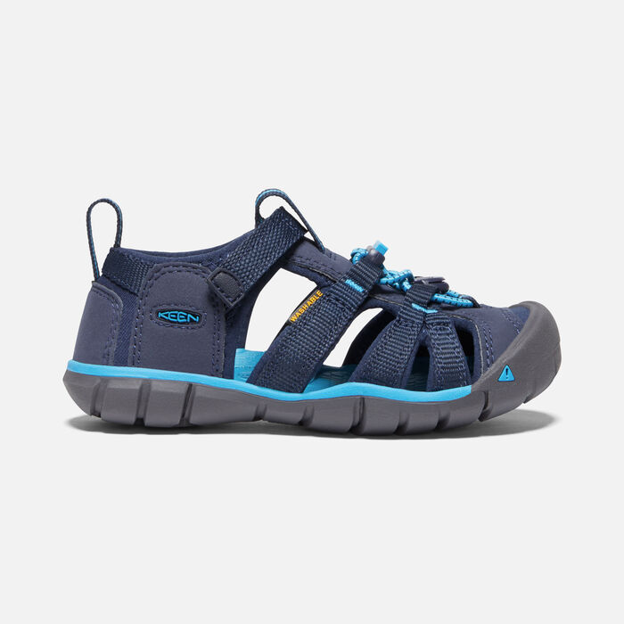 Younger Kids' Seacamp II Cnx Sandals in Black Iris/Vivid Blue - large view.