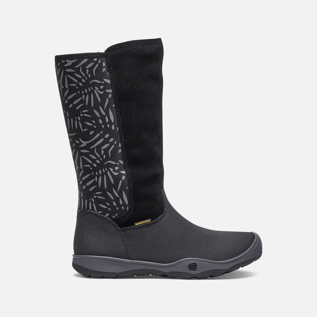 Little Kids' MOXIE TALL Waterproof Boot in Black/Magnet - large view.