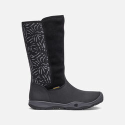 Little Kids' MOXIE TALL Waterproof Boot in Black/Magnet - small view.