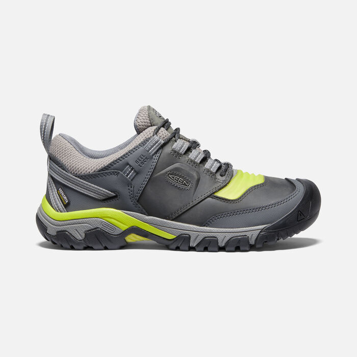 Men's Ridge Flex Waterproof Hiking Shoes in Steel Grey/Evening Primrose - large view.